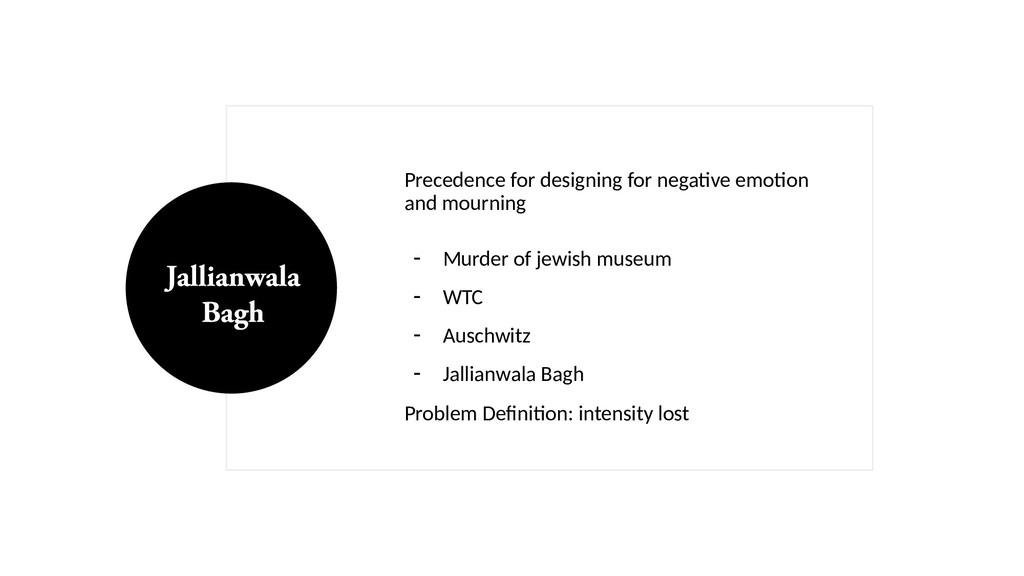 Precedence for designing for negative emotion a...