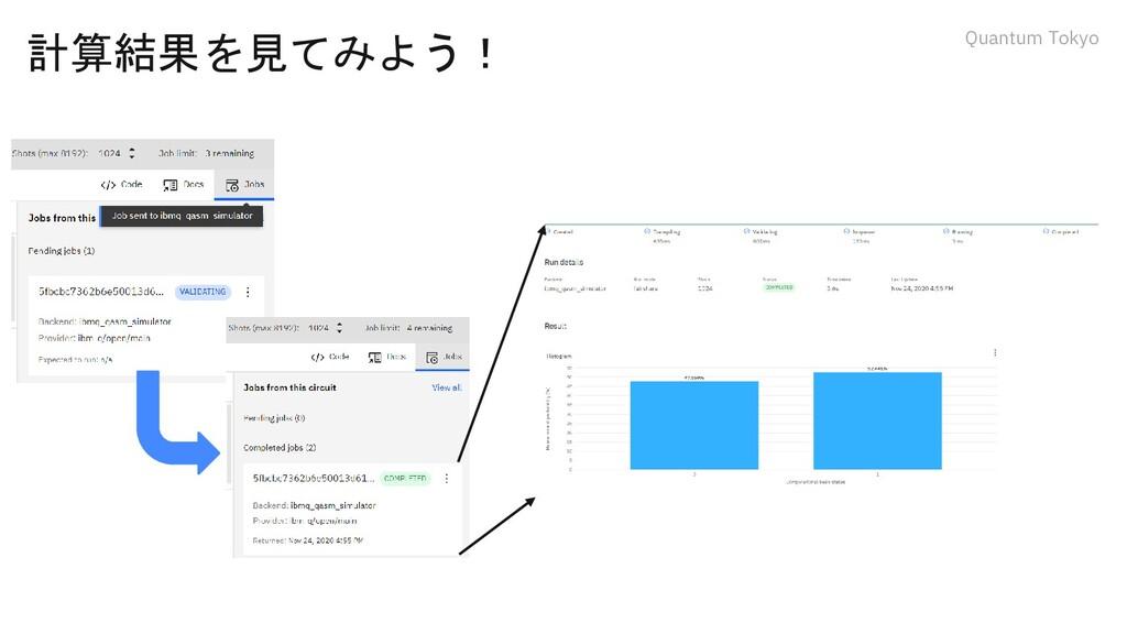 Quantum Tokyo 計算結果を見てみよう!
