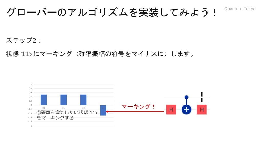 Quantum Tokyo グローバーのアルゴリズムを実装してみよう! ステップ2: 状態|1...