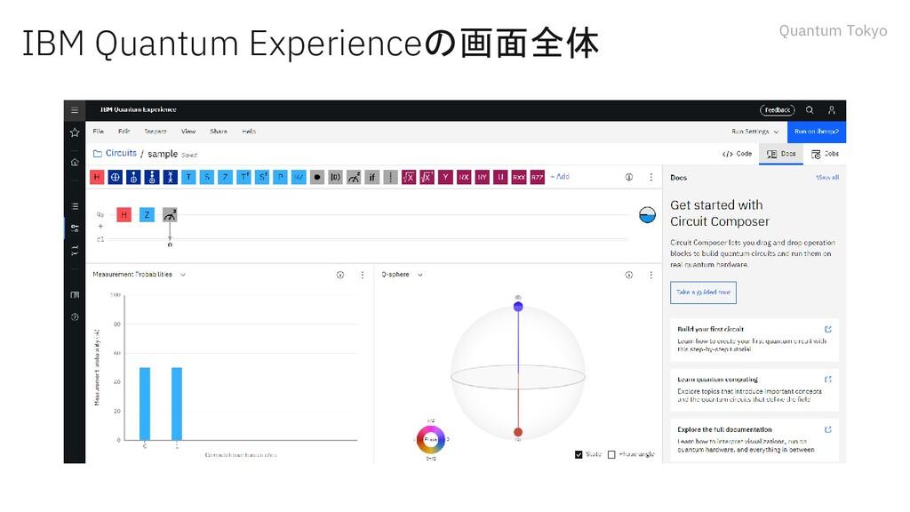 Quantum Tokyo IBM Quantum Experienceの画面全体