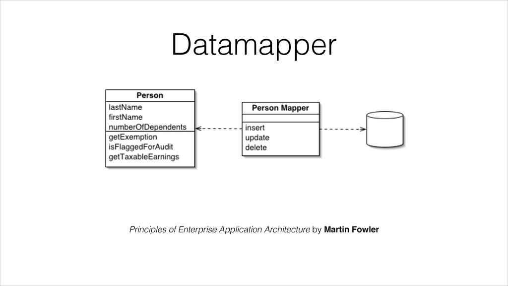 Datamapper Principles of Enterprise Application...