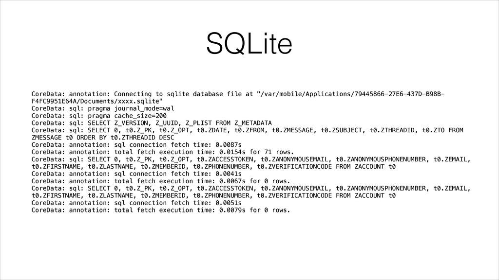 SQLite CoreData: annotation: Connecting to sqli...