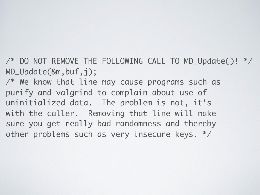 /* DO NOT REMOVE THE FOLLOWING CALL TO MD_Updat...