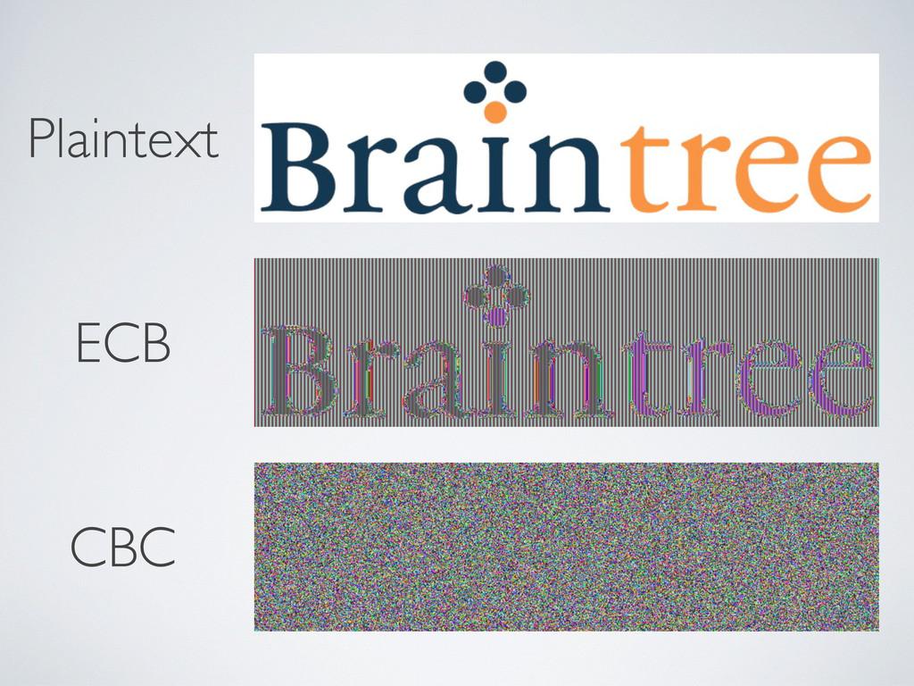 Plaintext ECB CBC