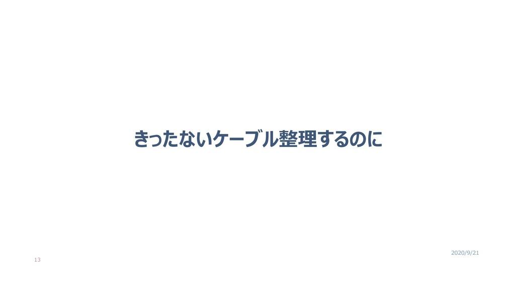 きったないケーブル整理するのに 13 2020/9/21