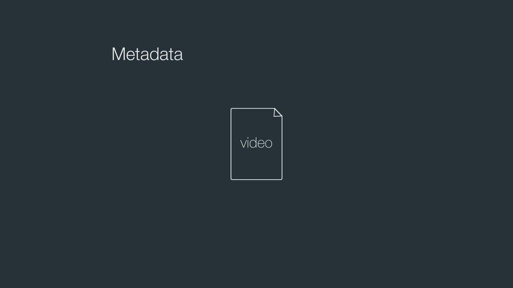 Metadata video