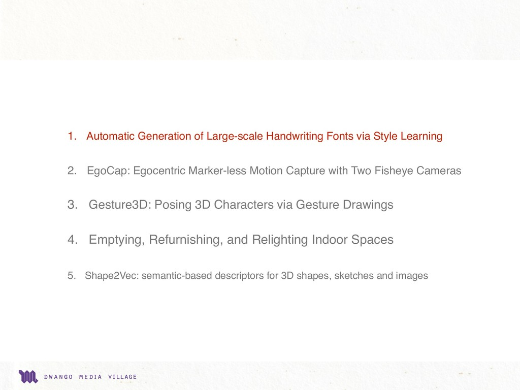 1. Automatic Generation of Large-scale Handwrit...