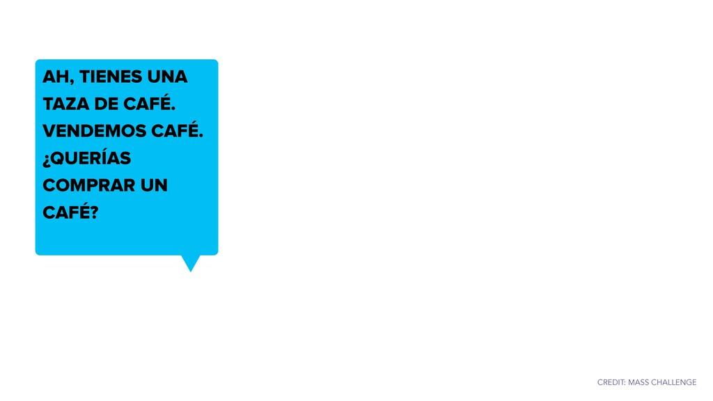AH, TIENES UNA TAZA DE CAFÉ. VENDEMOS CAFÉ. ¿QU...