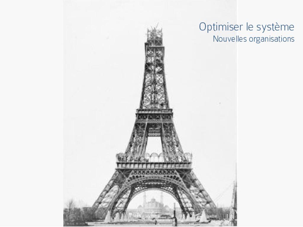 Optimiser le système Nouvelles organisations