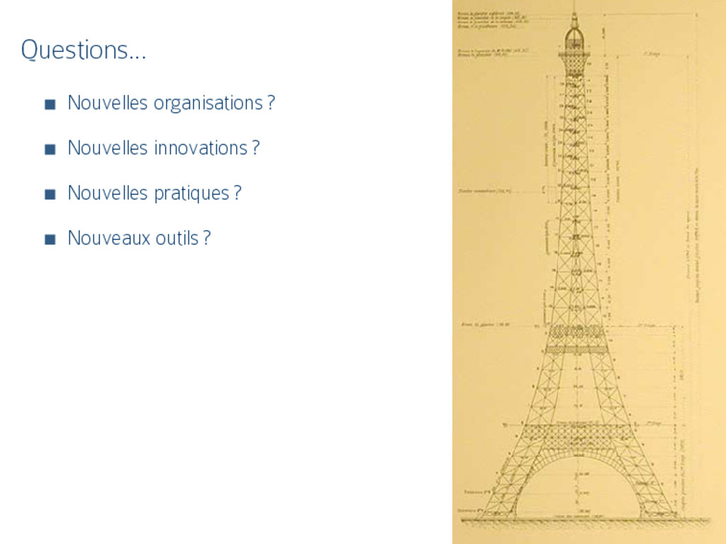 Questions… Nouvelles organisations ? Nouvelles ...