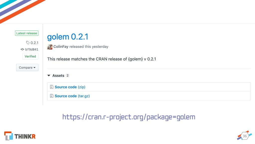 36 https://cran.r-project.org/package=golem