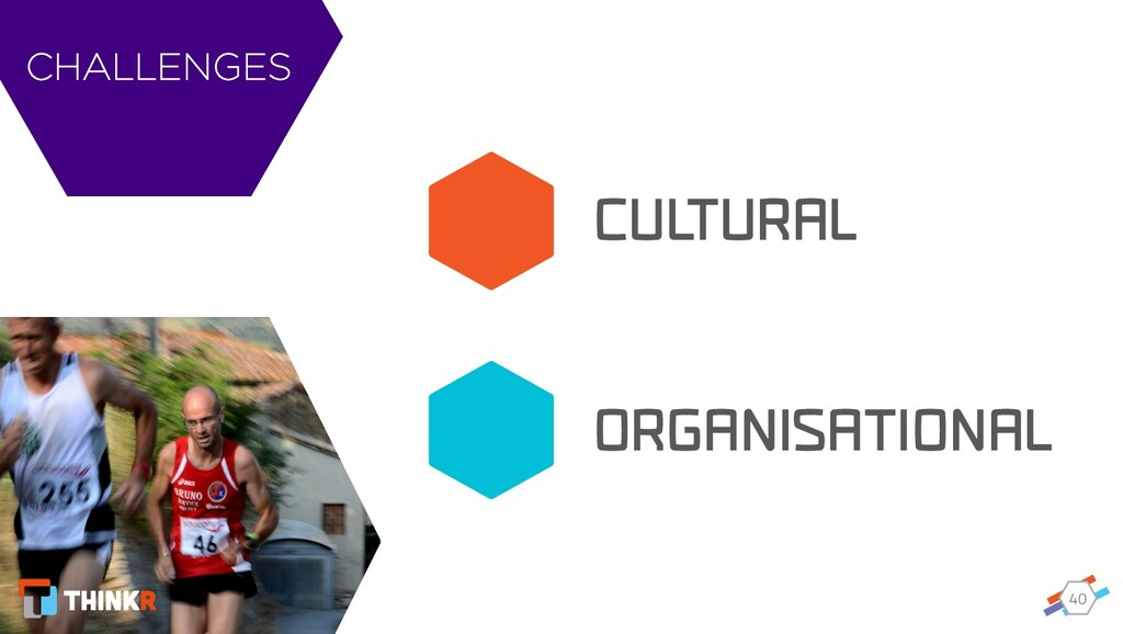 40 CUL TURAL ORGANISATIONAL CHALLENGES