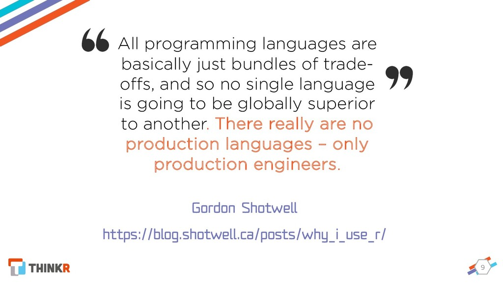 9 All programming languages are basically just ...
