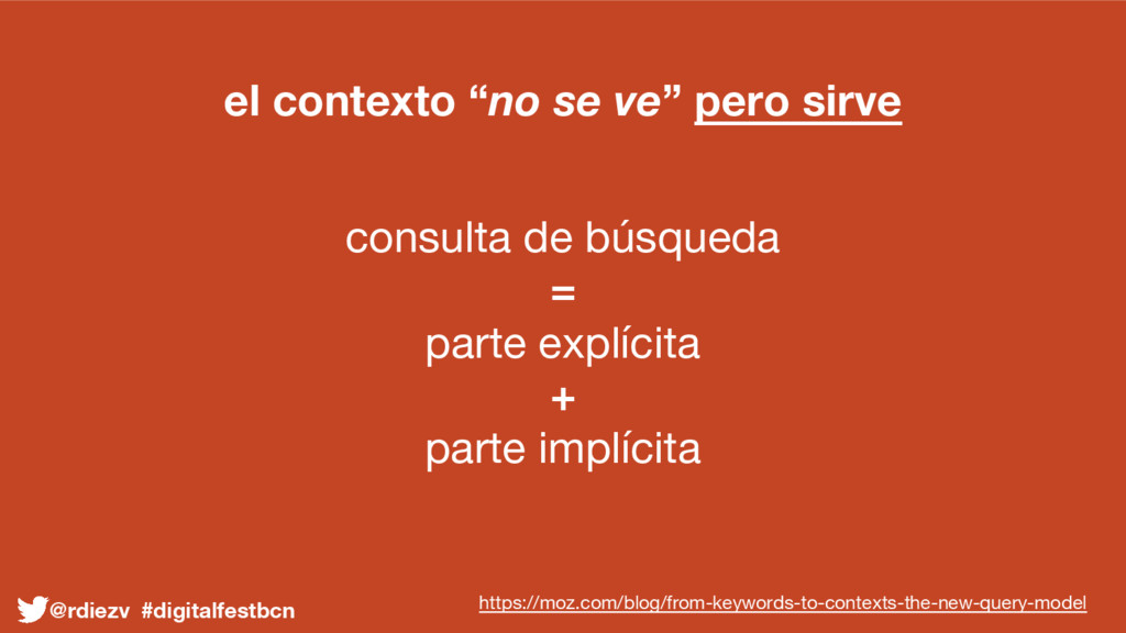 """el contexto """"no se ve"""" pero sirve consulta de b..."""