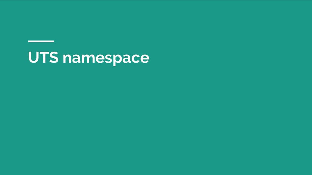 UTS namespace