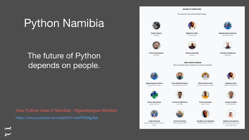 Python Namibia The future of Python depends on ...