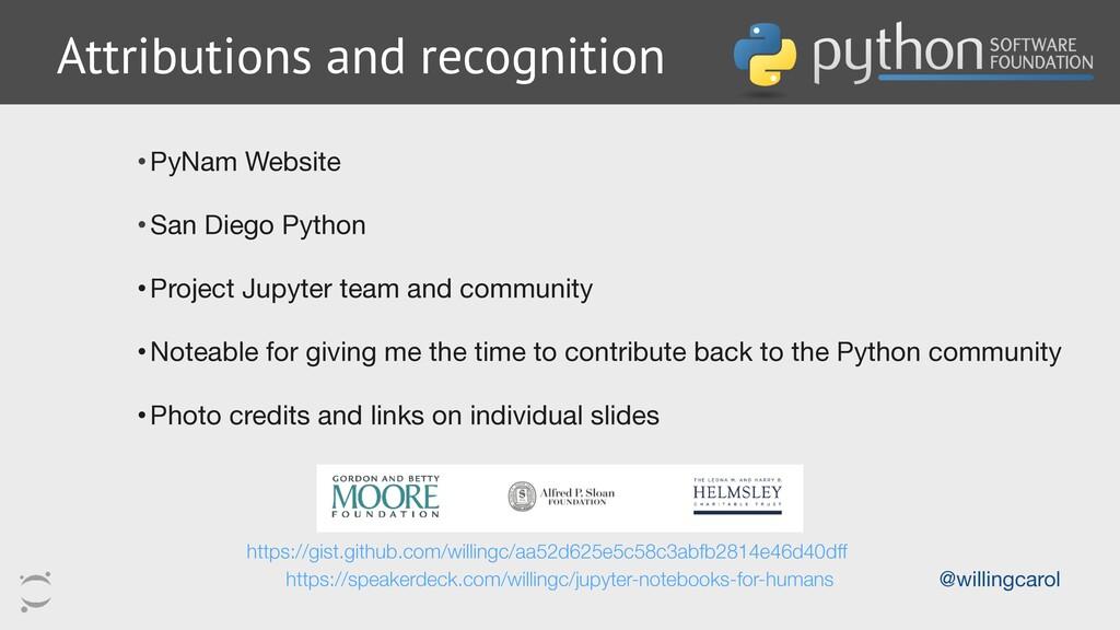 •PyNam Website  •San Diego Python  •Project Jup...