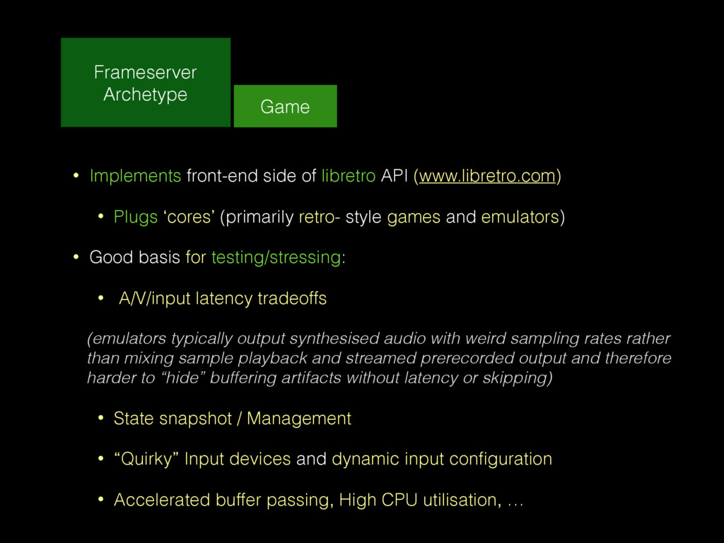 Frameserver Archetype Game • Implements front-e...