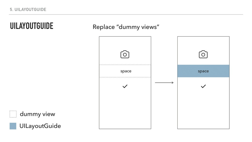 """5. UILAYOUTGUIDE Replace """"dummy views"""" UILayout..."""