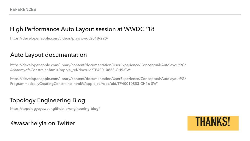 REFERENCES Auto Layout documentation https://de...