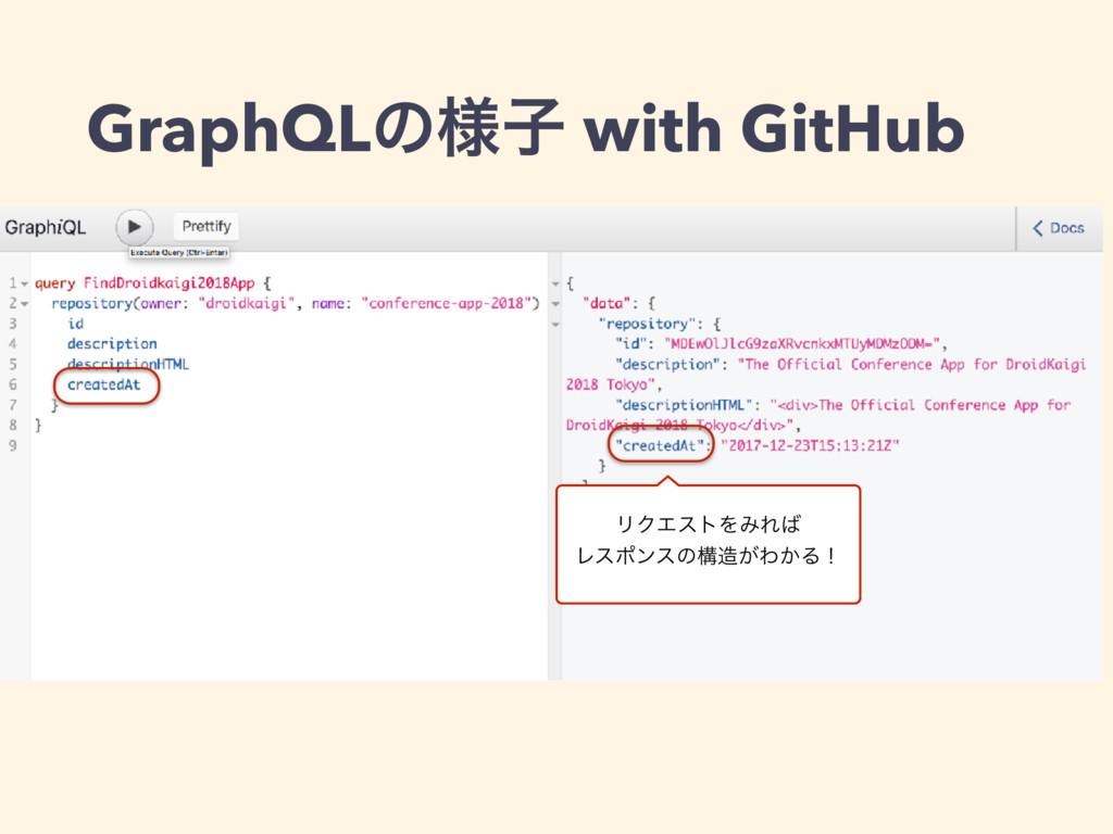 GraphQLͷ༷ࢠ with GitHub ϦΫΤετΛΈΕ Ϩεϙϯεͷߏ͕Θ͔Δʂ
