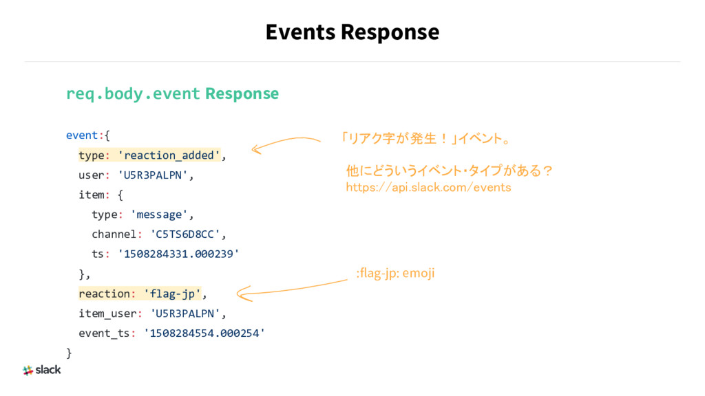 Events Response req.body.event Response event:{...