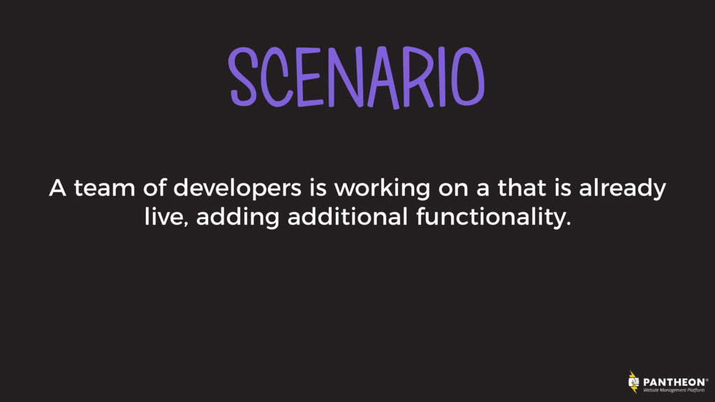 SCENARIO A team of developers is working on a t...