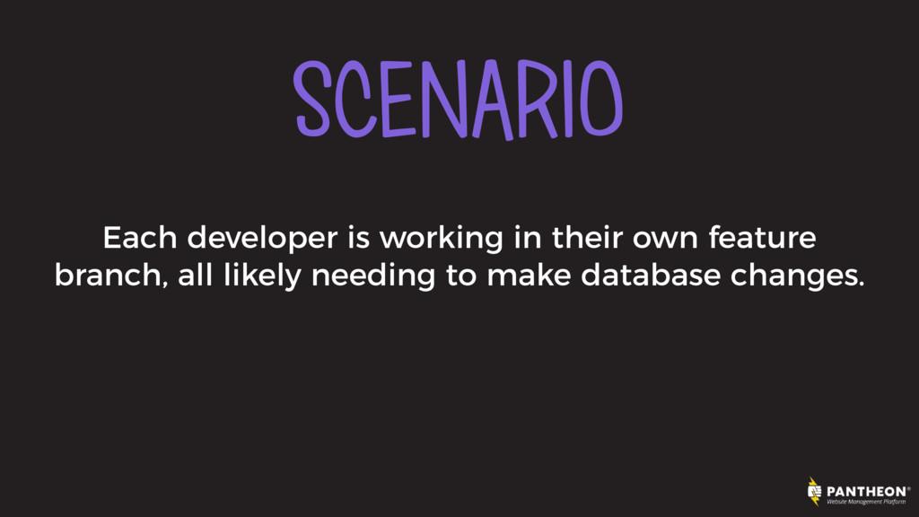 SCENARIO Each developer is working in their own...