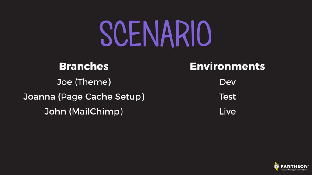 SCENARIO Branches Joe (Theme) Joanna (Page Cach...