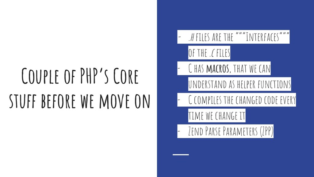 Couple of PHP's Core stuff before we move on - ...
