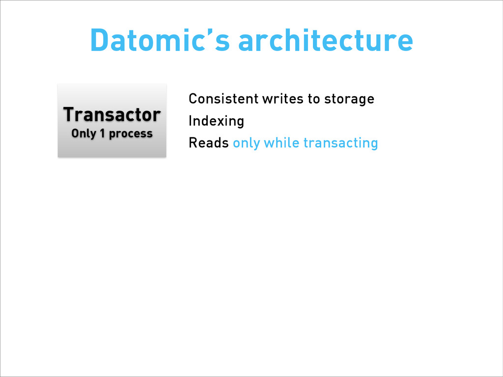 Transactor