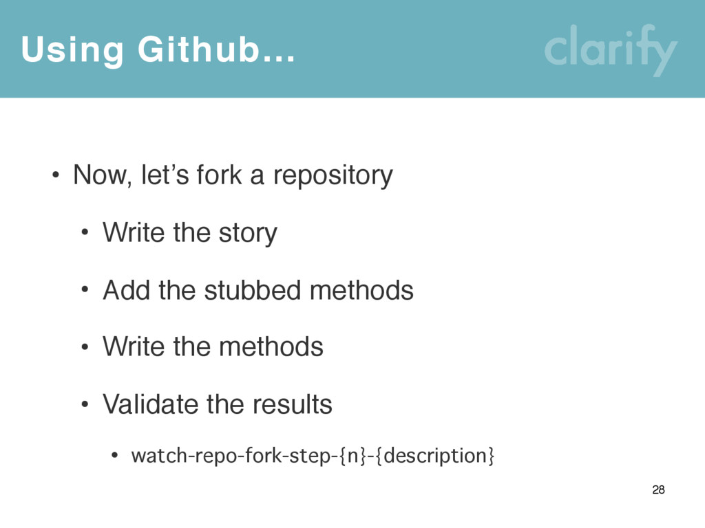 Using Github… 28 • Now, let's fork a repository...