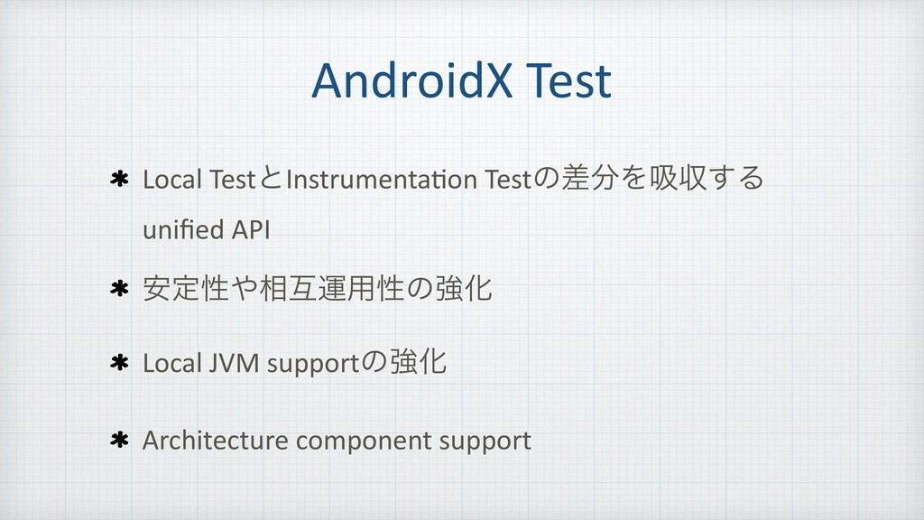 AndroidX Test Local TestͱInstrumenta=on Testͷࠩ...
