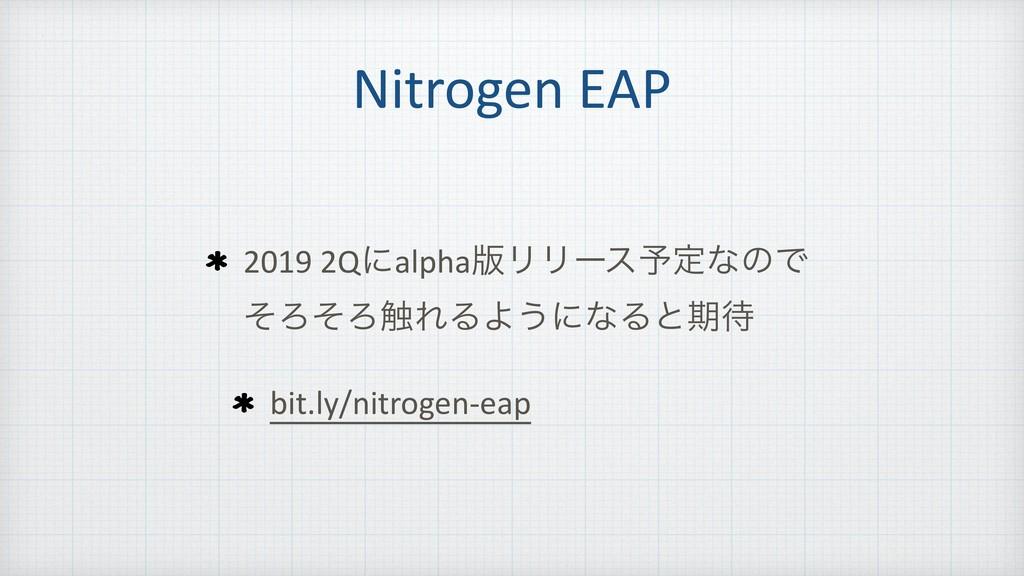 Nitrogen EAP 2019 2Qʹalpha൛ϦϦʔε༧ఆͳͷͰ ͦΖͦΖ৮ΕΔΑ͏ʹ...