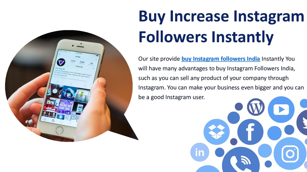 Our site provide buy Instagram followers India ...