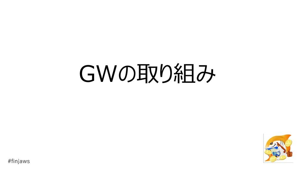 GWの取り組み #finjaws