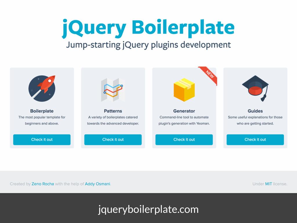 jqueryboilerplate.com