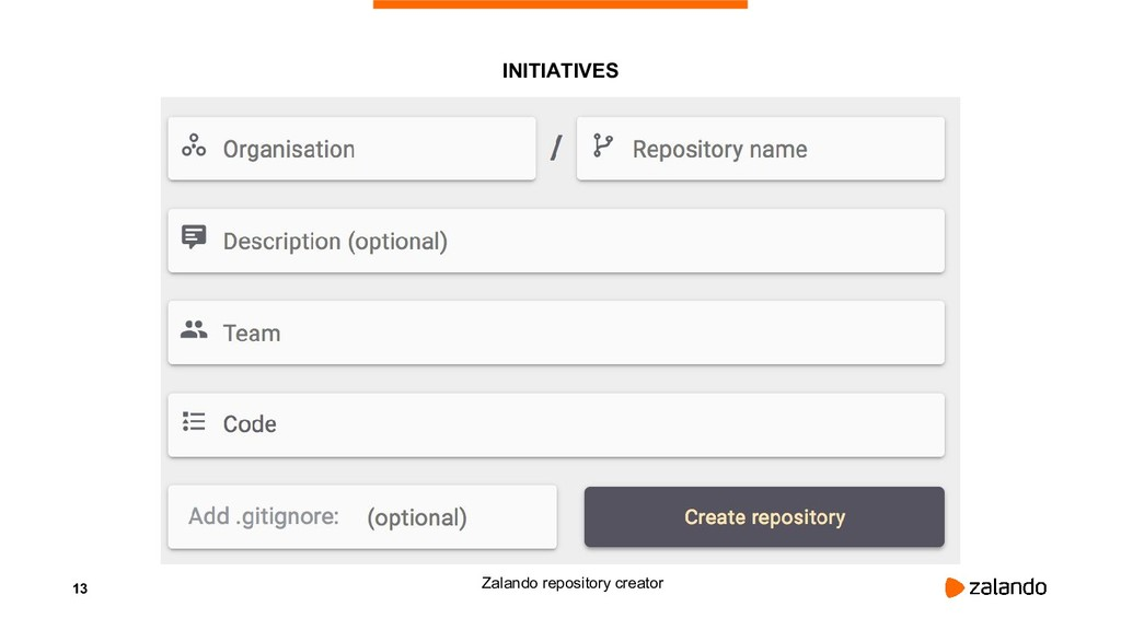 13 INITIATIVES Zalando repository creator