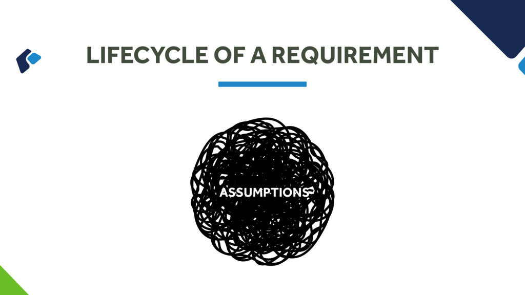 LIFECYCLE OF A REQUIREMENT ASSUMPTIONS