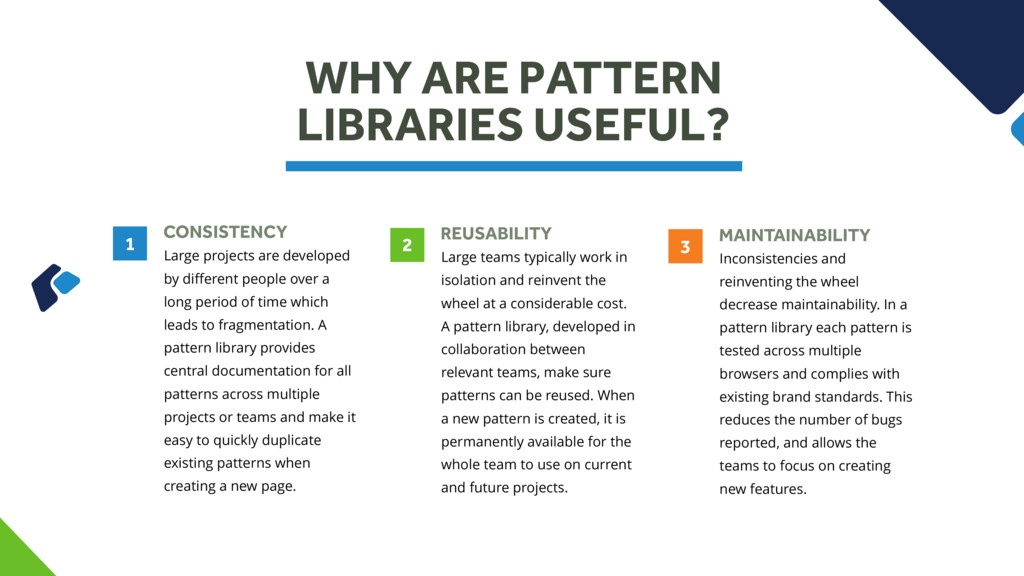 WHY ARE PATTERN LIBRARIES USEFUL? CONSISTENCY L...