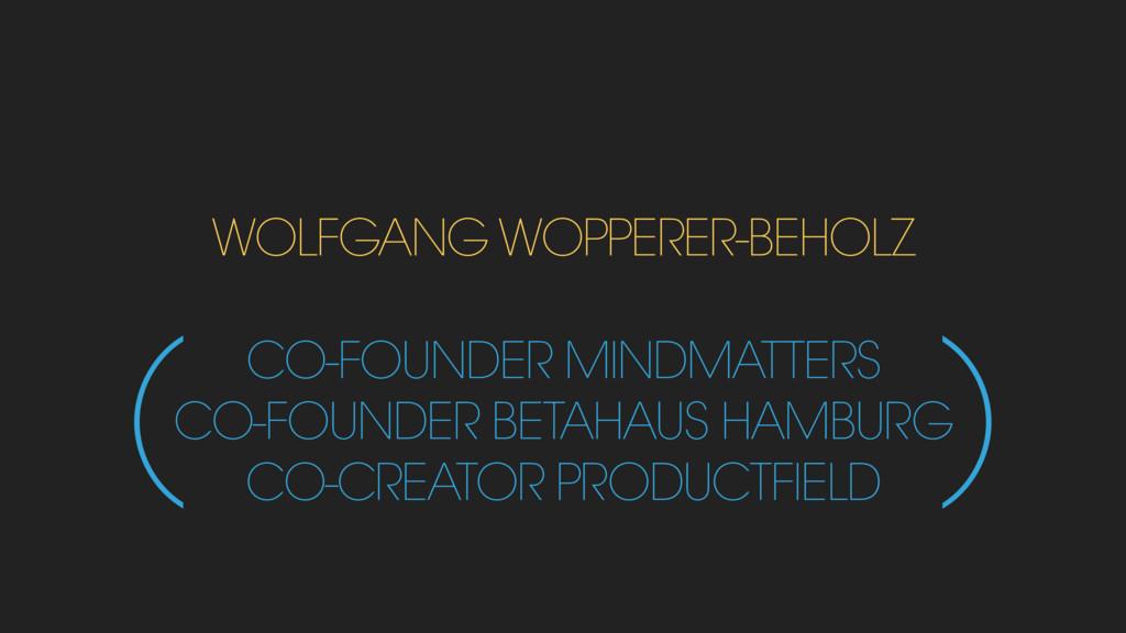 WOLFGANG WOPPERER-BEHOLZ CO-FOUNDER MINDMATTERS...