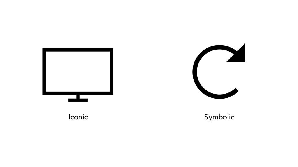Iconic Symbolic