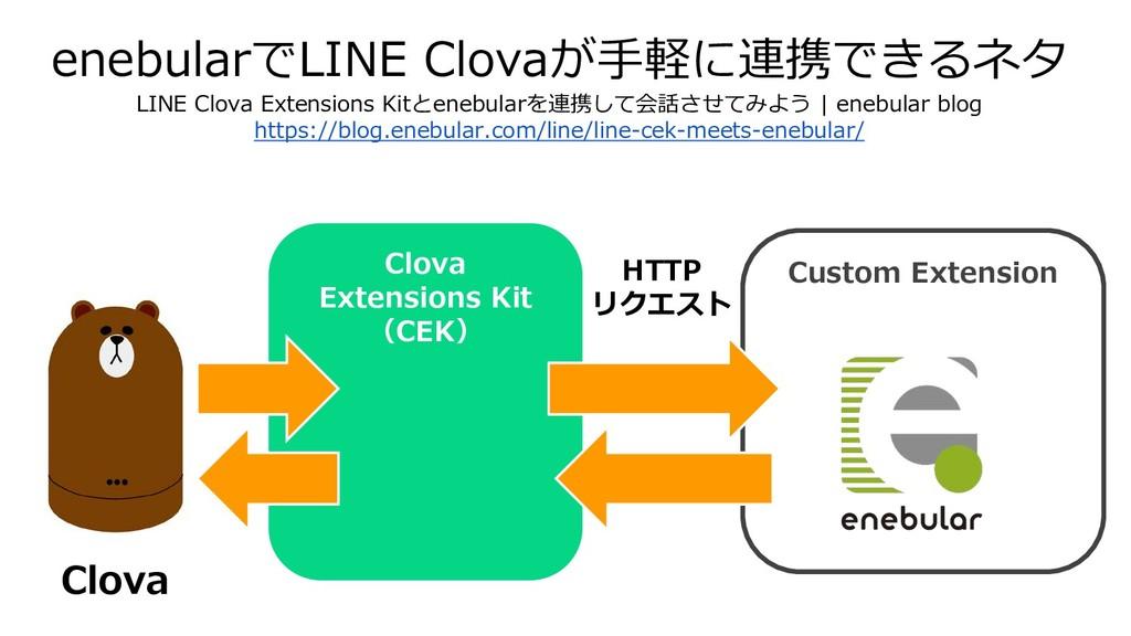enebularでLINE Clovaが手軽に連携できるネタ LINE Clova Exten...
