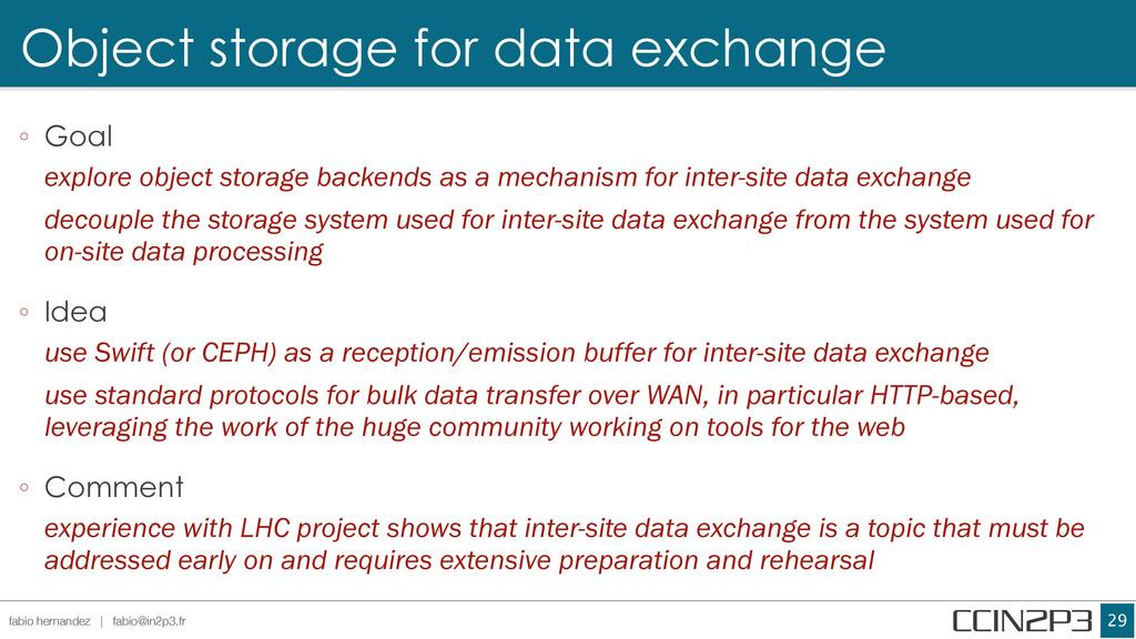 Object storage for data exchange !29 fabio hern...