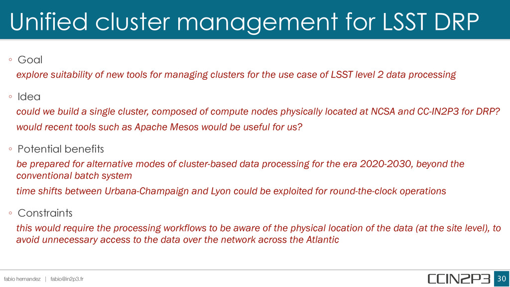 Unified cluster management for LSST DRP !30 fab...