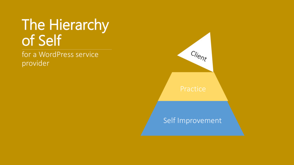 The Hierarchy of Self for a WordPress service p...