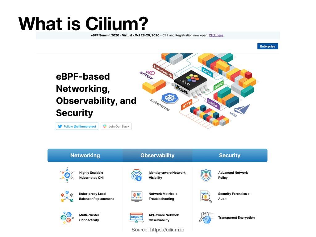 What is Cilium? Source: https://cilium.io