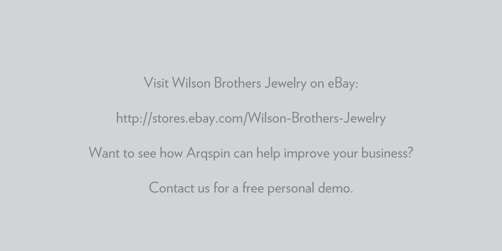 Visit Wilson Brothers Jewelry on eBay: http://s...
