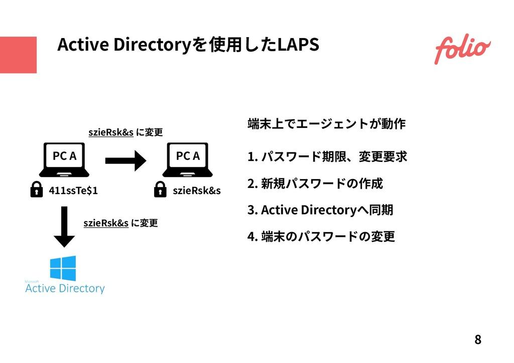 1. パスワード期限、変更要求 2. 新規パスワードの作成 3. Active Directo...