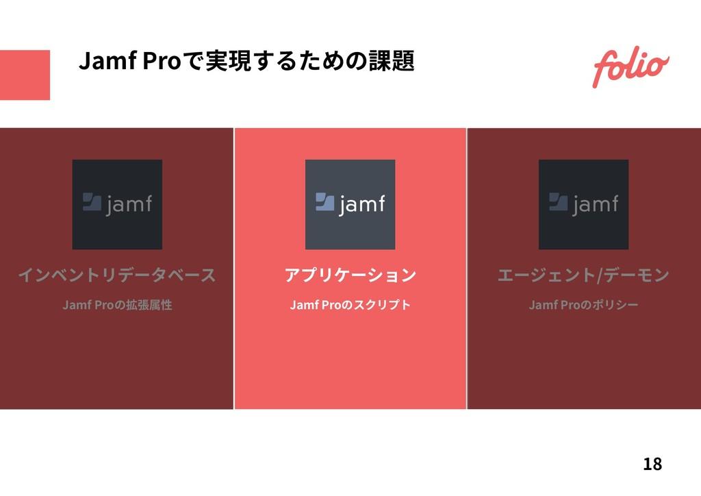 Jamf Proの拡張属性 インベントリデータベース Jamf Proのスクリプト アプリケー...